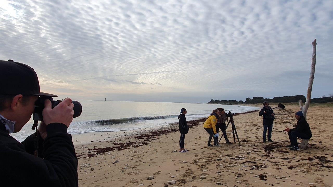 Interview Antoine Albeau sur la plage de Rivedoux l'Ile de Ré